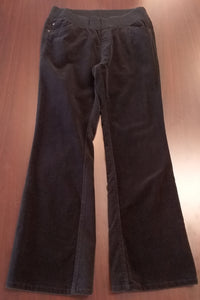 Medium Under Belly Panel Black Cord Maternity Pants