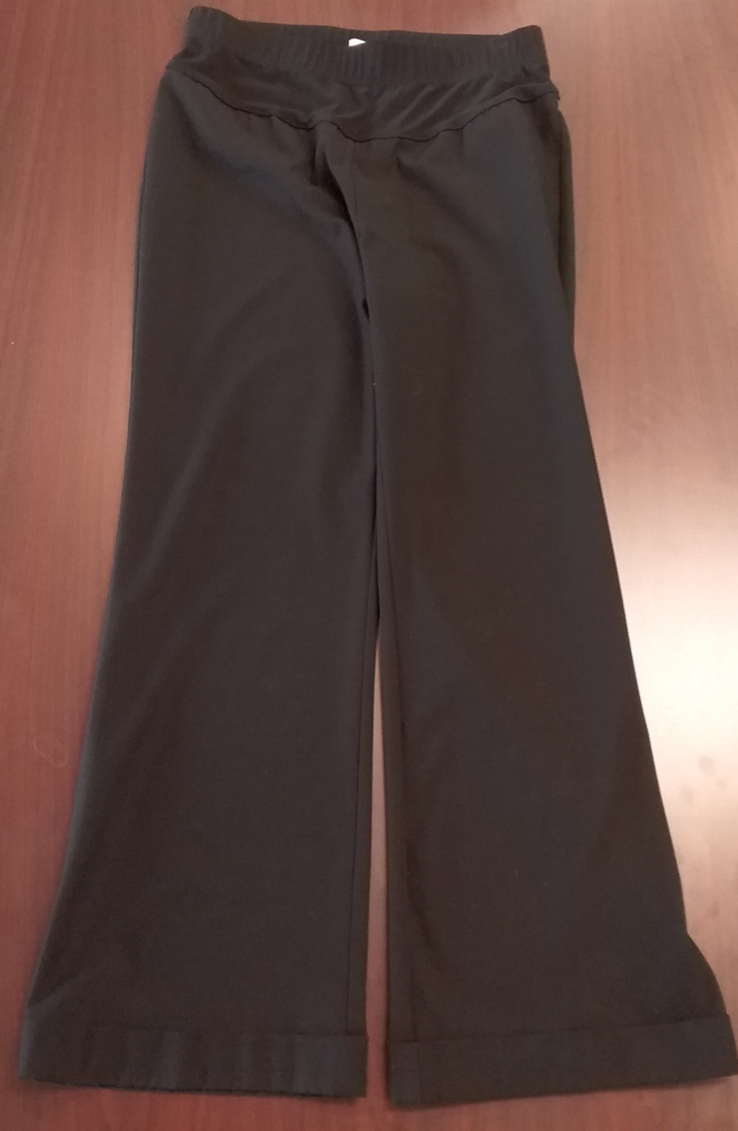 Medium Stretch Under Belly Panel Black Maternity Pants