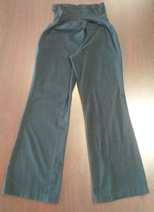 Medium Petite Full Panel Black Maternity Pants