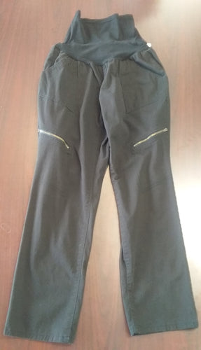 XL Full Panel Black Maternity Pants