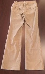 Small Under Belly Panel Khaki Cord Maternity Pants