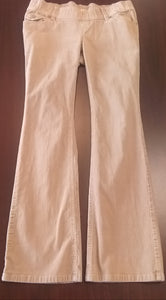 Small Stretch Low Rise Khaki Cord Maternity Pants