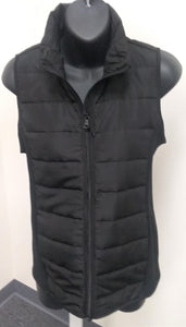 New Small Black Quilted Puffer Maternity Vest