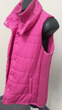 New Medium Pink Quilted Puffer Maternity Vest