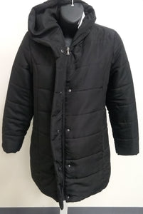 New Black Quilted Puffer Maternity Coat