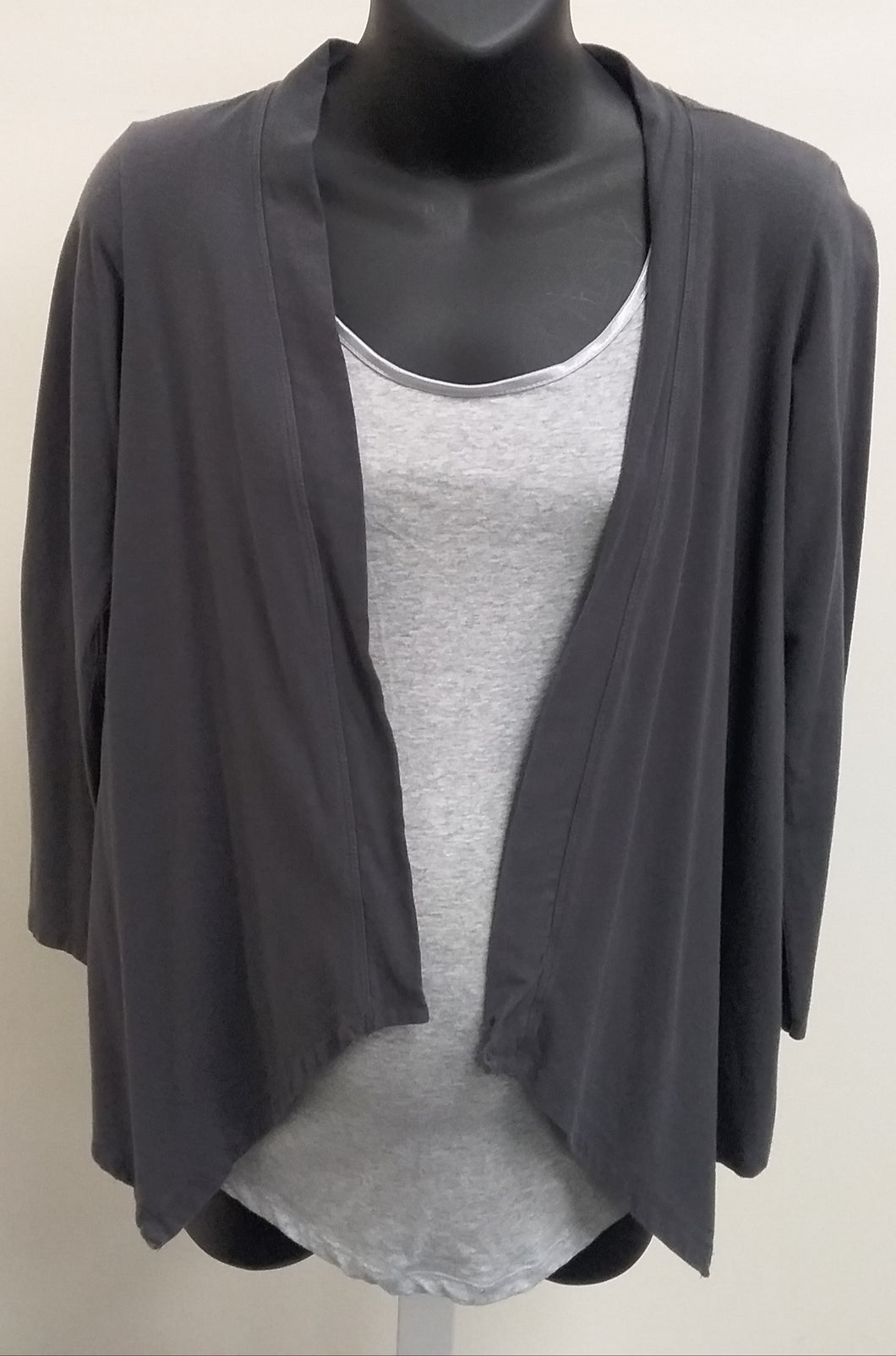 Medium Dark Gray Cardigan