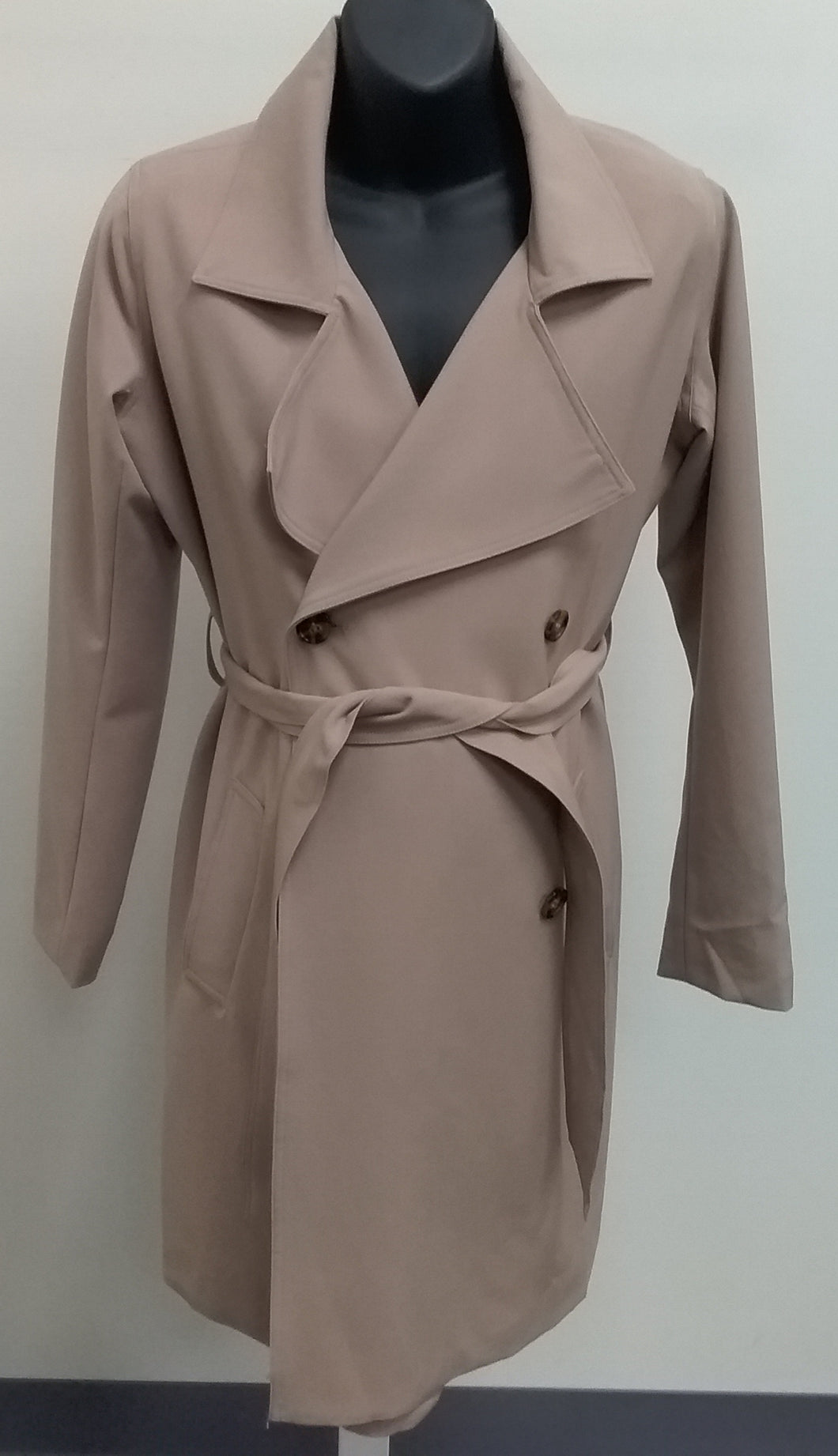 New Small Tan Maternity Trench Coat
