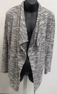 New Medium Gray/ White Cardigan