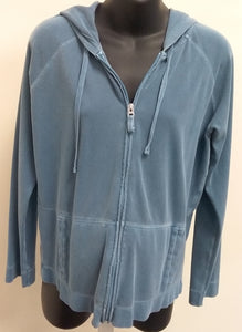 Large Denim Blue Hooded Jacket