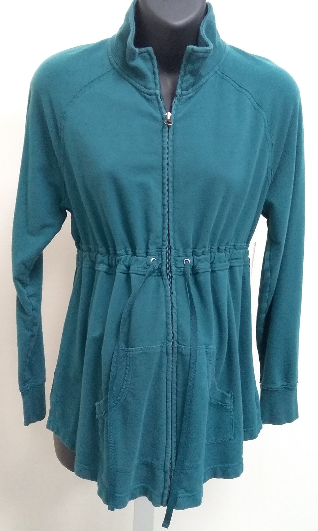 Large Teal Green Zip Up Jacket