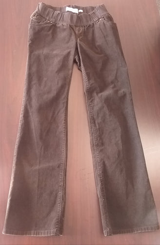 Small Stretch Under Belly Panel Brown Cord Maternity Pants