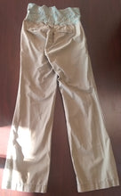 Small Full/Rollover Panel Olive Green Maternity Pants