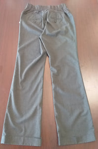 Size 6 Tall Full Panel Gray Maternity Pants