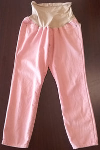 Large Full Panel Pink Colored Maternity Jeans