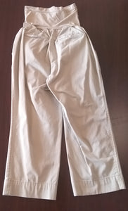 Medium Full Panel Light Khaki Capri Maternity Pant
