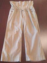 Size 8 Full Panel Light Olive Maternity Capri Pant