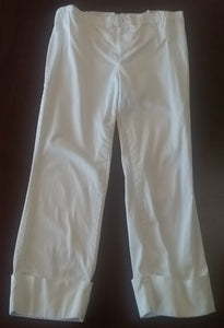 Small Stretch Band White Maternity Capris