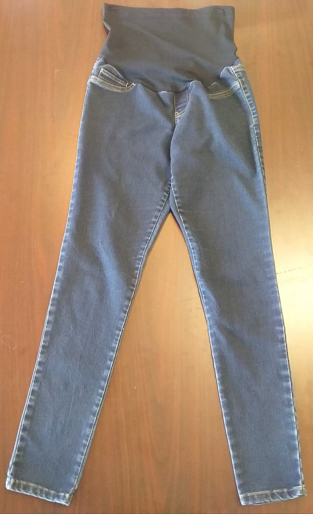 XS Full Panel Dark Wash Skinny Maternity Jeans