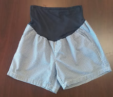 Size 14 Full Panel Blue/White Plaid Maternity Shorts