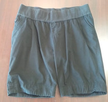 Large Under Belly Panel Black Bermuda Maternity Shorts