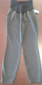 Large Full Panel Gray Maternity Lounge Pants