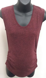 Small Burgundy Sleeveless Maternity Sweater
