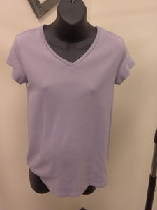 Small Purple Cap Sleeve Maternity Tee