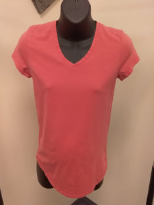 XS Coral V- Neck Maternity Tee