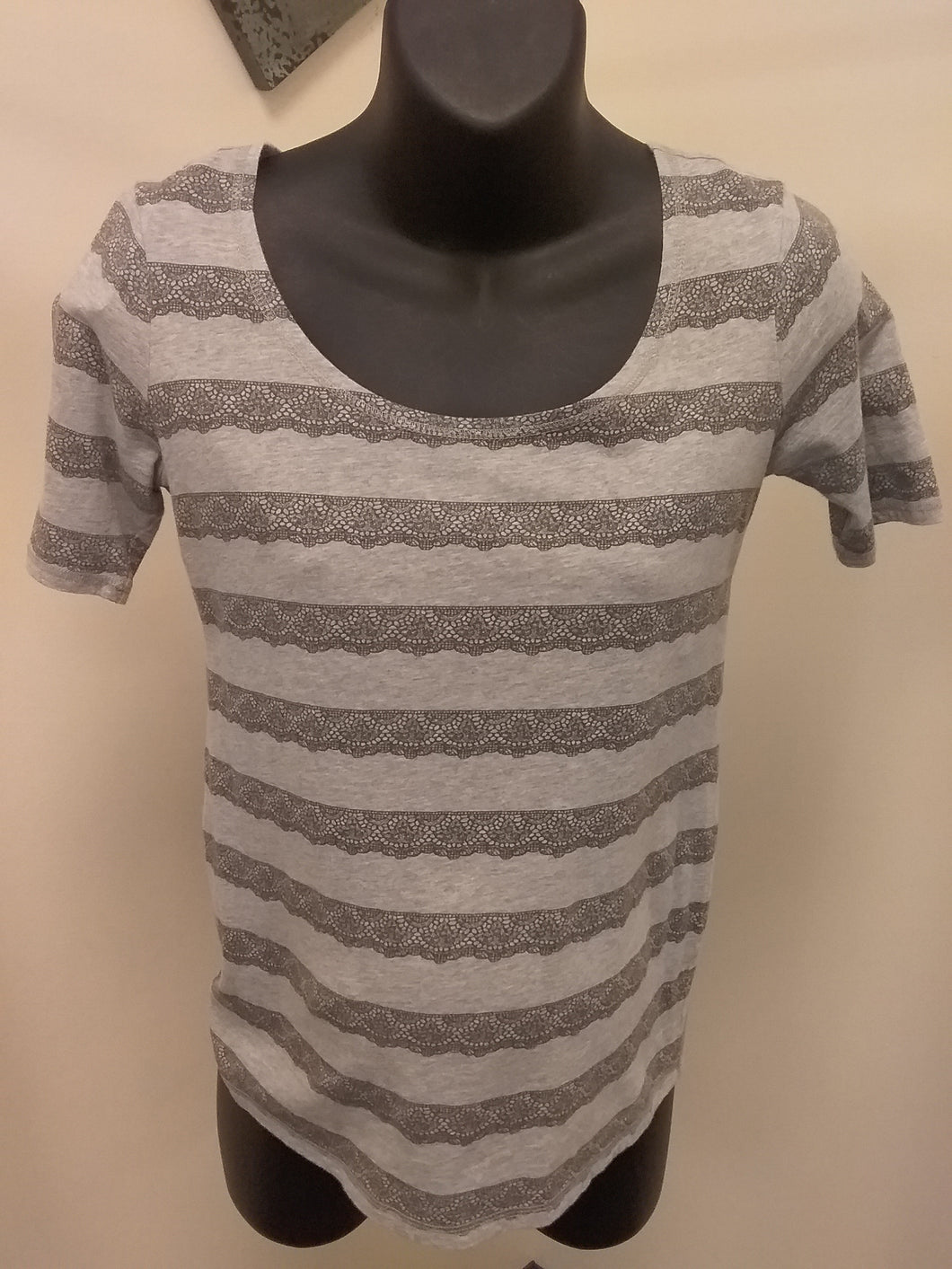 XS Gray Cap Sleeve Maternity Tee