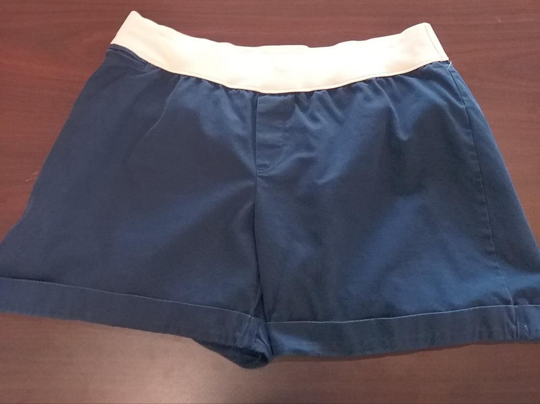 Size 12 Regular Under Panel Navy Maternity Shorts