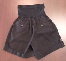 Large Full Panel Black Cargo Maternity Shorts