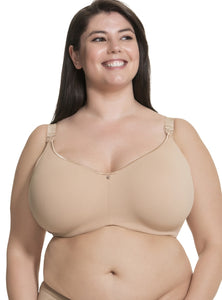 Croissant Smoothing Flexi Wire Spacer Nursing Bra-Nude