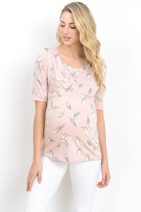 Feather Nursing & Maternity Scoop Neck Top