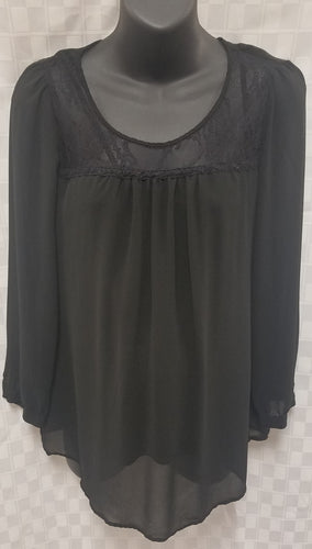 Small Black Lace Top Maternity Blouse