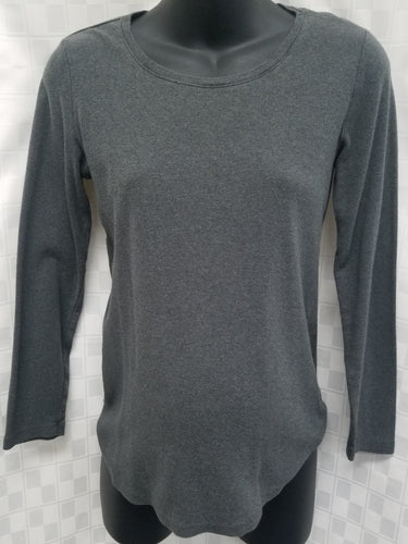 Small Gray Long Sleeve Maternity Tee