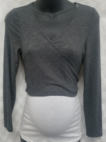 Medium Gray Nursing Friendly Grey Shrug Cardigan