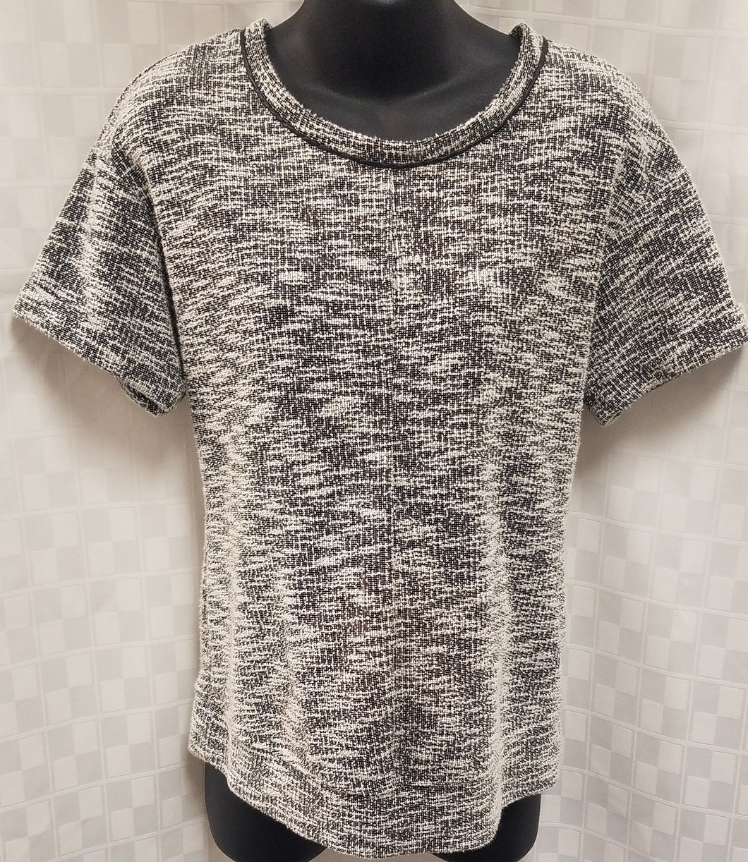 Medium Short Sleeve Gray Maternity Sweater