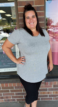 Heather Gray Cap Sleeve Tunic Top