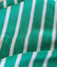 Kelly Green Sleeveless Mini Stripe Tunic Top
