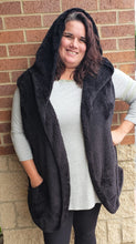 Faux Fur Hooded Cocoon Vest With Side Pockets-4 Colors