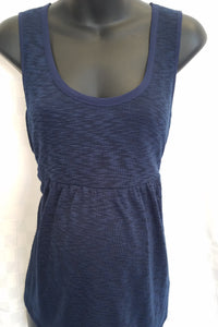 New Small Navy Blue Hacci Maternity Tank Blouse