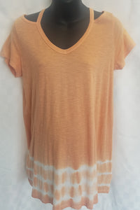 Clay Open-Shoulder Tie Dye Maternity Tunic
