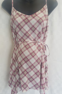 New Swing Cami Tank Maternity Blouse in Plaid