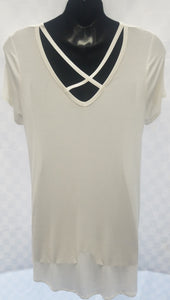 White Crossed On Top Tunic