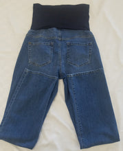 Small Mid Wash Full Panel Straight Leg Maternity Jean