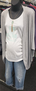 New Tank Ruched Maternity Graphic Top- 2 Colors