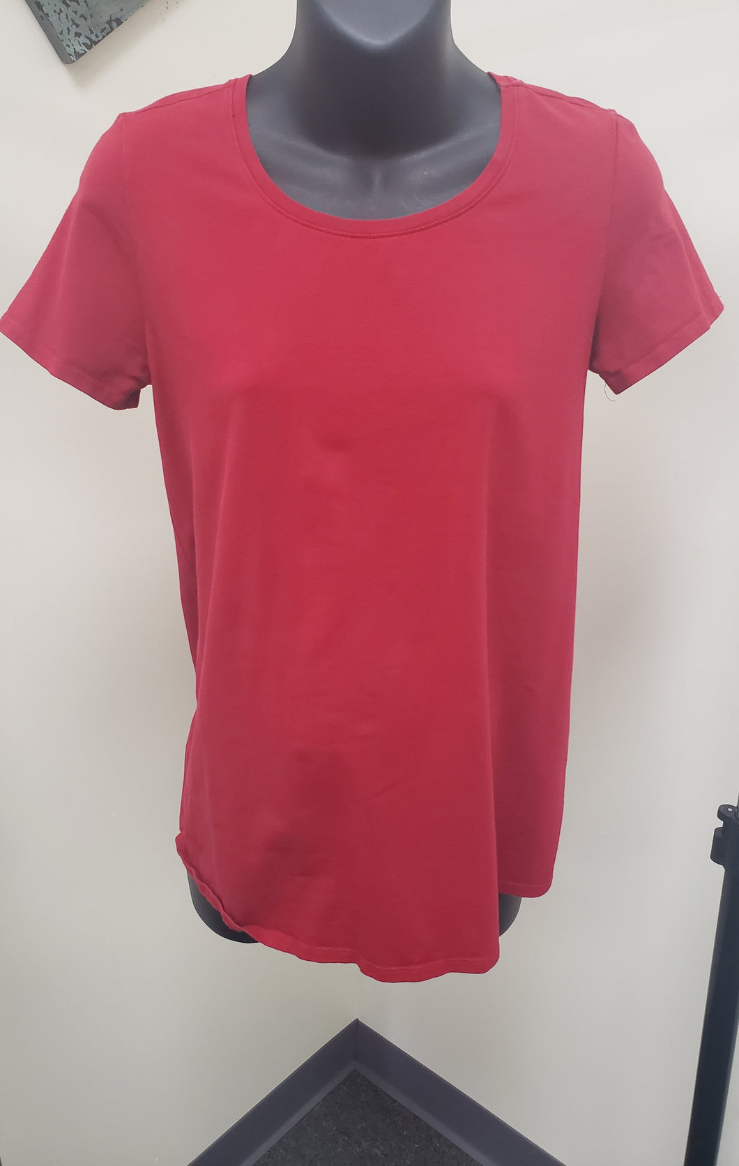 Small Cap Sleeve Red Maternity Tee