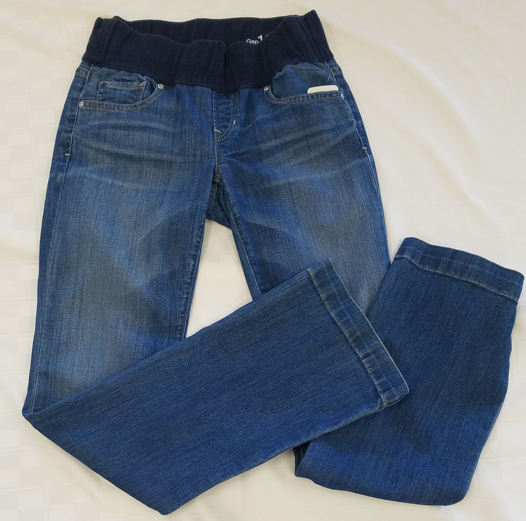 XSmall Low Rise Mid Wash Boot Cut Maternity Jeans
