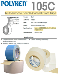 Polyken 105C - Multi-Purpose Double Coated Carpet Tape