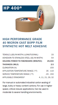 Shurtape HP-400 Packaging Tape: High-Performance Grade-TapeMonster